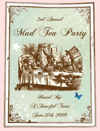 Mad Tea Party 2009 Blog FLyer